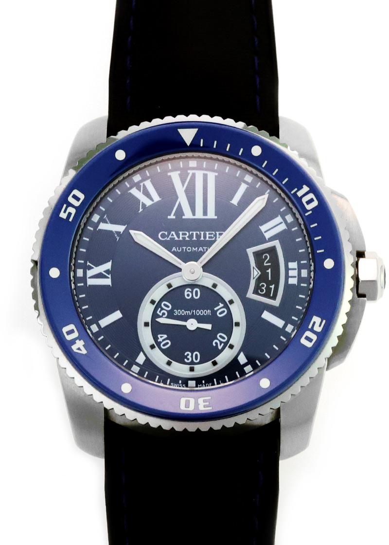 【入荷予定】カルティエ WSCA0010 カリブル ドゥ カルティエ ダイバー SS ブルー文字盤 自動巻き ラバー【中古】