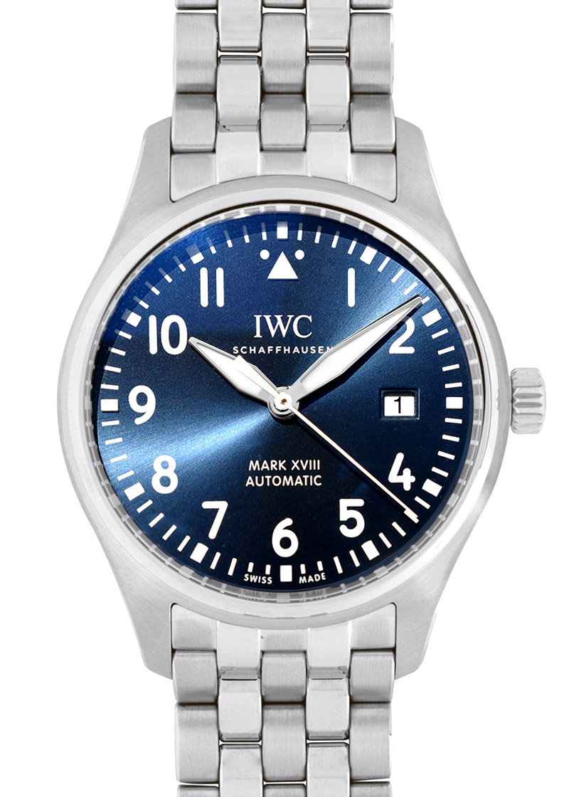 IWC IW327016(IW327014) パイロットウォッチ マークXVIII プティプランス SS ブルー文字盤 自動巻き ブレスレット