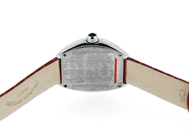 フランクミュラー 5002SQZ レディース ハートトゥハート SS シルバー文字盤 クォーツ レザー