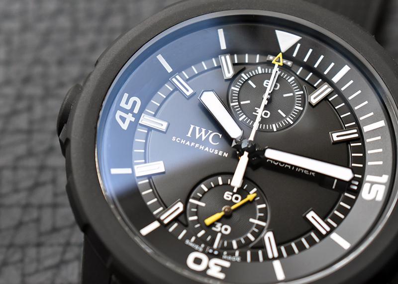 IWC IW379502 アクアタイマー クロノグラフ ガラパゴスアイランド SS 黒文字盤 自動巻き ラバー