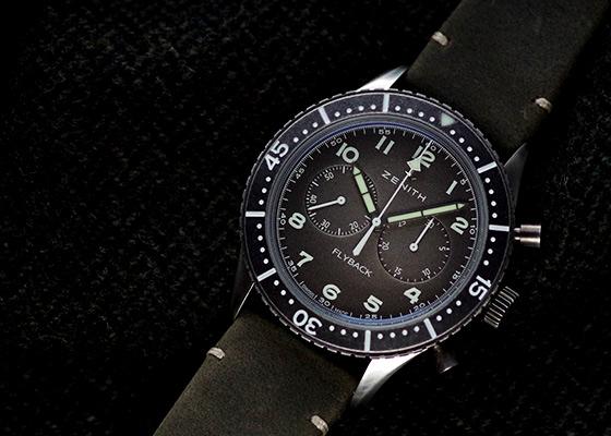 ゼニス 11.2240.405/21.C773 パイロット クロノメトロ TIPO CP-2 フライバック SS グレー文字盤 自動巻き レザー