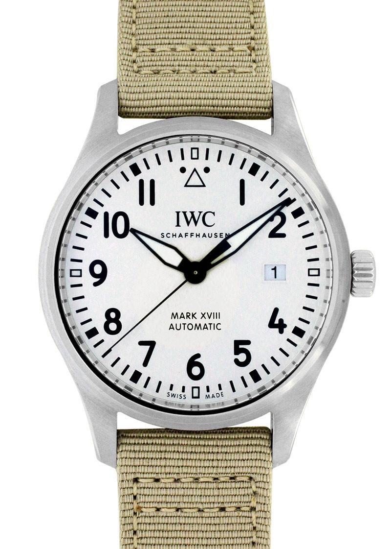 IWC IW327017 パイロットウォッチ マークXVIII SS シルバー文字盤 自動巻き ファブリック