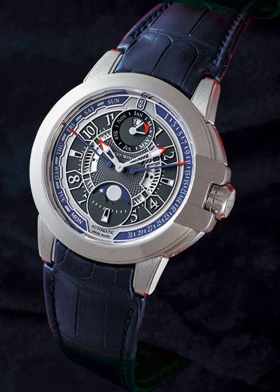 ハリーウィンストン OCEAPC42WW001 オーシャン バイレトログラード パーペチュアルカレンダー オートマティック WG グレー文字盤 自動巻き レザー
