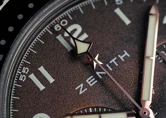 ゼニス 29.2240.405/18.C801 パイロット クロノメトロ TIPO CP-2 フライバック ブロンズ ブラウン文字盤 自動巻き レザー