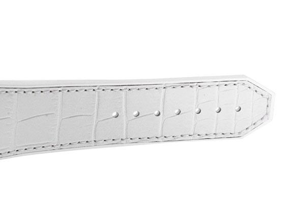 【中古】ウブロ 525.NE.0127.LR アエロフュージョン オールホワイト 日本限定 TI スケルトン文字盤 自動巻き ラバーアリゲーター