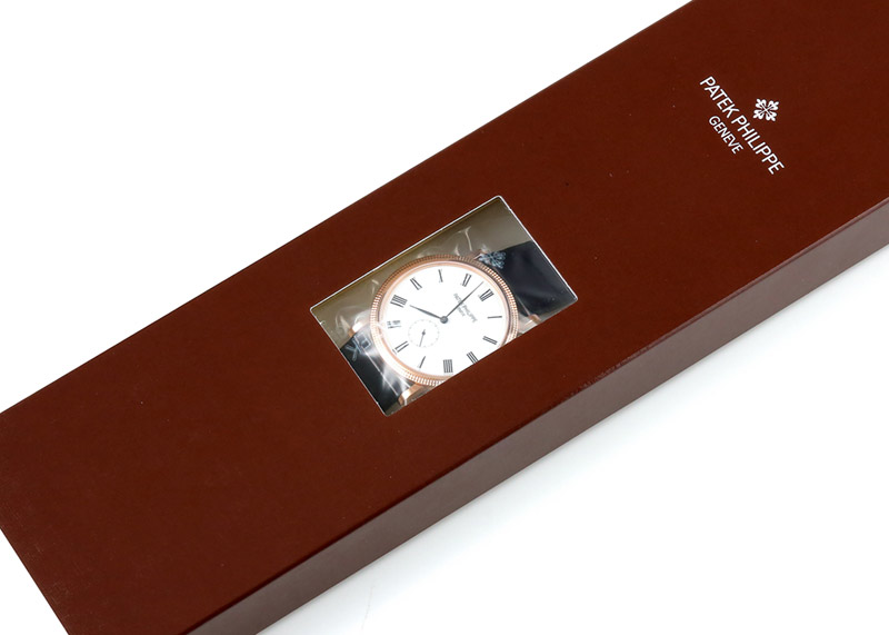 【レストア】パテックフィリップ 5119R-001 カラトラバ RG 白文字盤 手巻き レザー【アーカイブ付】【2011年製】