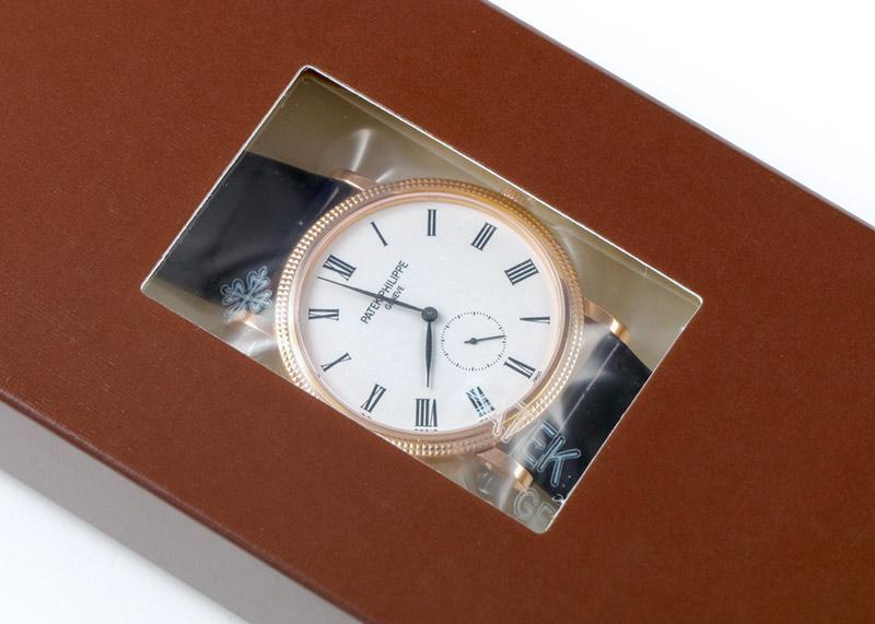 【レストア】パテックフィリップ 5119R-001 カラトラバ RG 白文字盤 手巻き レザー