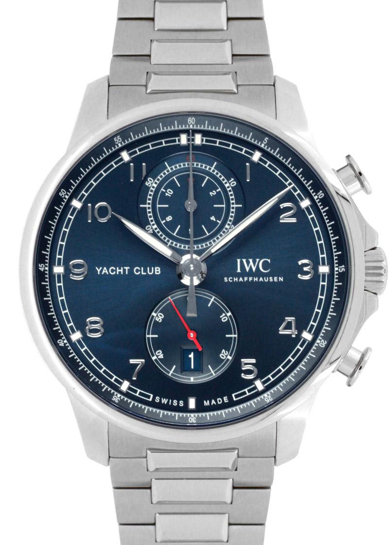 【お取り寄せ可能】IWC IW390701 ポルトギーゼ ヨットクラブ クロノグラフ SS ブルー文字盤 自動巻き ブレスレット【2020年新作】