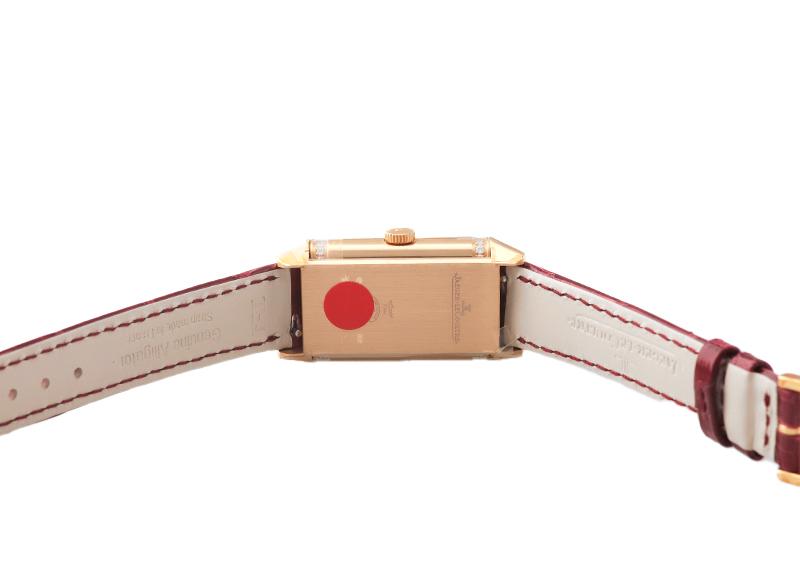 【お取り寄せ可能】ジャガールクルト Q3348420 レベルソ・ワン・デュエット PG シルバー/レッド文字盤 手巻き レザー