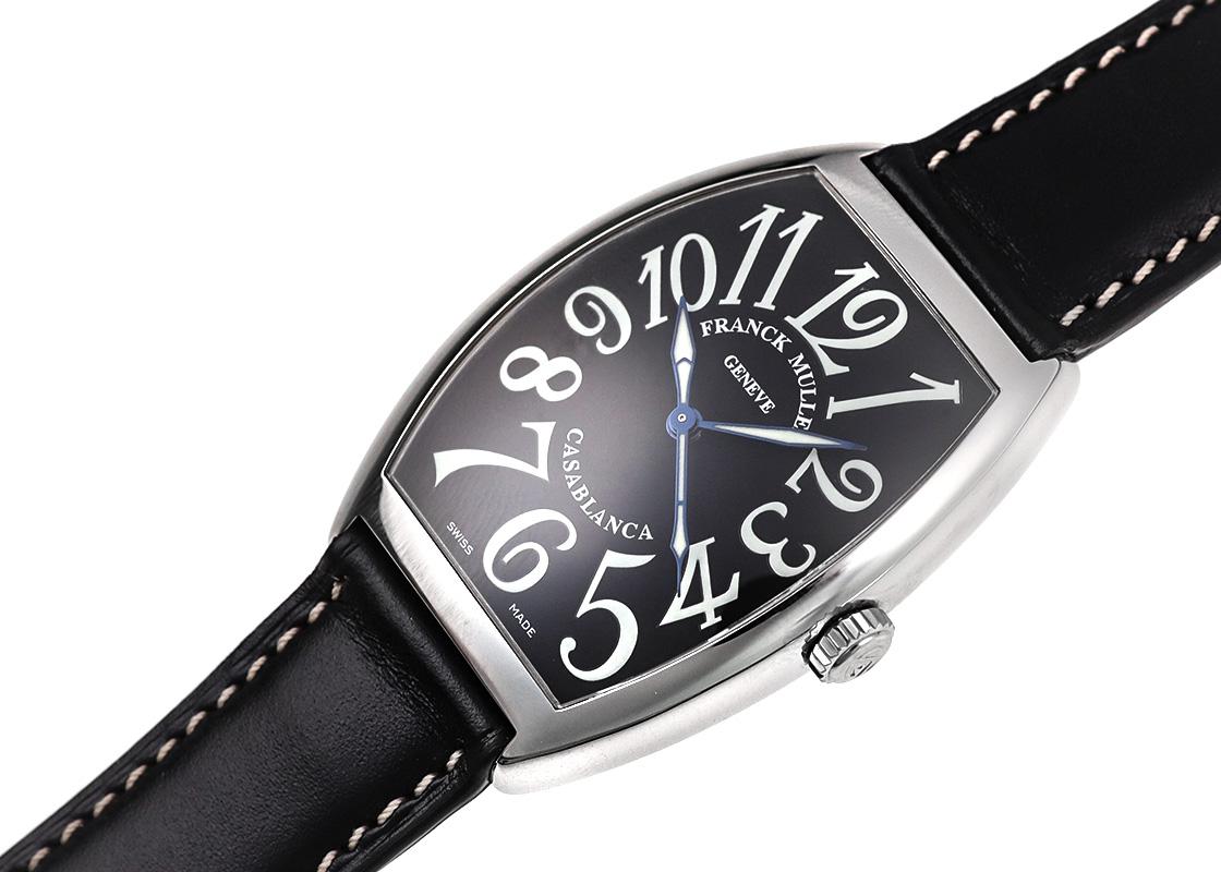 【中古】フランクミュラー 6850BC(6850CASA) カサブランカ SS 黒文字盤 自動巻き レザー