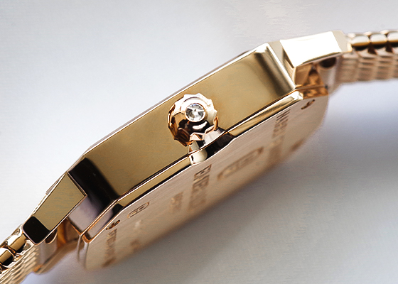 ハリーウィンストン EMEQHM18RR002 レディース エメラルド RG シルバー文字盤 クォーツ ブレスレット