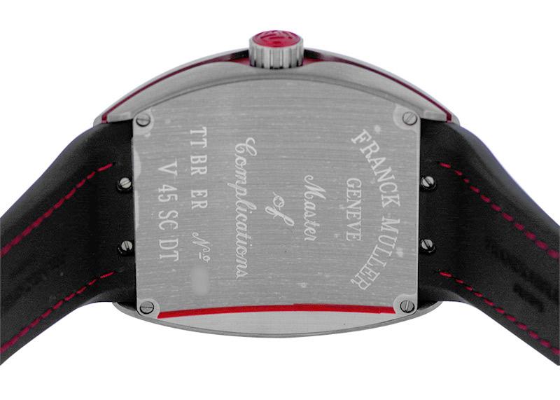フランクミュラー V45SCDT TT BR ER ヴァンガード デイト TI/ERG 黒文字盤 自動巻き クロコダイル/ラバー
