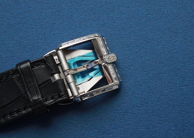【未使用品】ハリーウィンストン OCEAPC42WW002 オーシャン バイレトログラード パーペチュアルカレンダー オートマティック 世界20本限定 WG グレー文字盤 自動巻き レザー