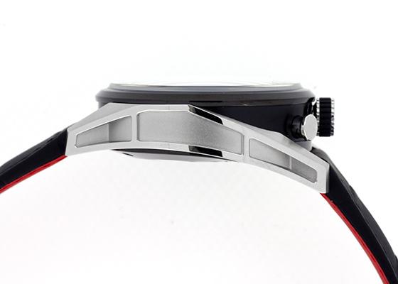 【未使用品】【日本限定】タグホイヤー CAR2C14.FC6327 カレラ キャリバー1887 クロノグラフ100周年記念モデル TI&SS グレー文字盤 自動巻き レザー