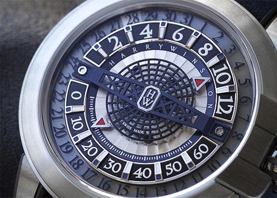 【未使用品】ハリーウィンストン OCEAHR42ZZ001 プロジェクト Z12 ザリウム スケルトン文字盤 自動巻き カーフ/ラバー【世界限定300本】【委託品】
