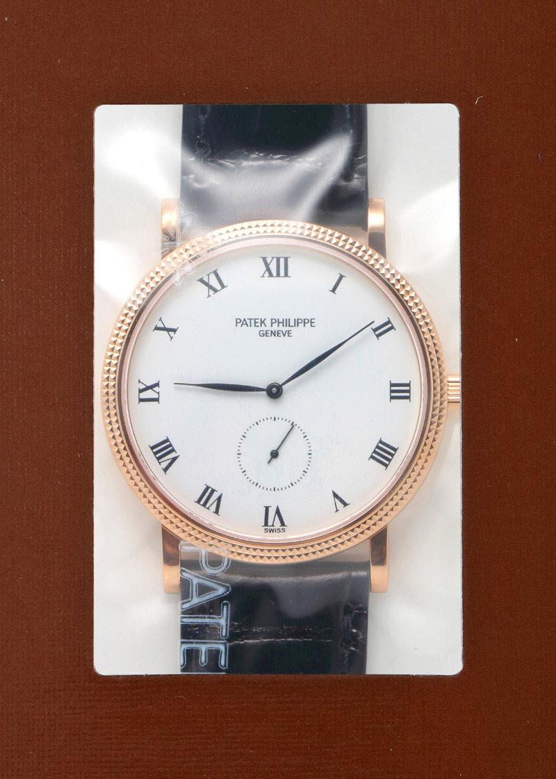 【入荷予定】パテックフィリップ 3919R-001 カラトラバ RG 白文字盤 手巻き レザー【アーカイブ付】【1989年製】