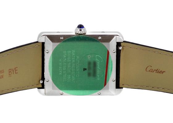 カルティエ WSTA0029 タンク ソロ XL SS シルバー文字盤 自動巻き レザー