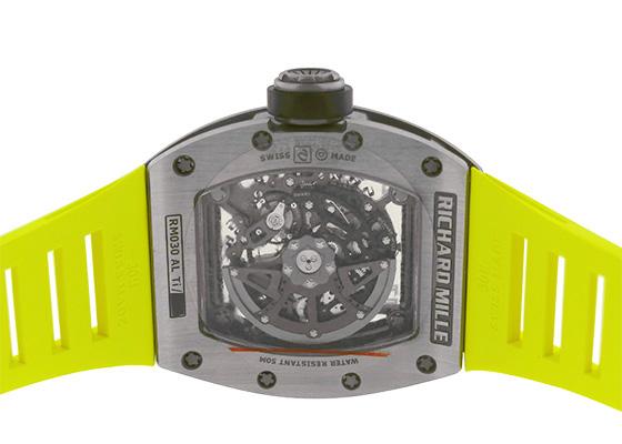 リシャールミル RM030 オートマティック デクラッチャブルローター TI スケルトン文字盤 自動巻き ラバー