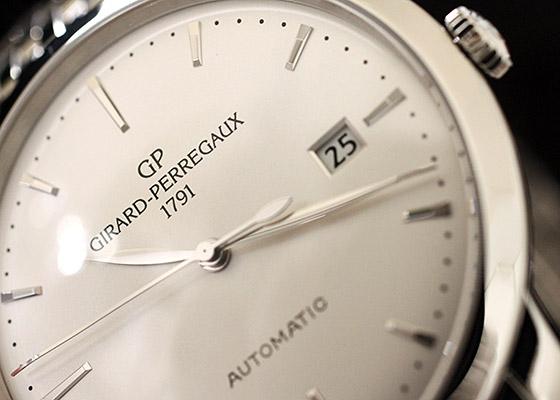 【未使用品】ジラールペルゴ 49555-11-131-11A ジラールペルゴ1966 SS シルバー文字盤 自動巻き ブレスレット
