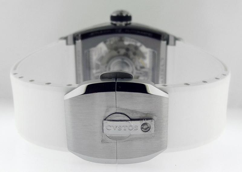 クストス CVT-JET-SL ST チャレンジジェットライナー SS スケルトン文字盤 自動巻き ラバー
