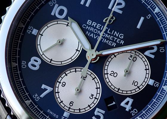 ブライトリング A008C-1PSS(AB0117) ナビタイマー8 B01 クロノグラフ 43 SS ブルー文字盤 自動巻き ブレスレット