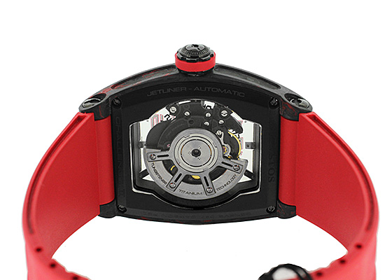 クストス CVT-JET2-SL-RED FGDC チャレンジ ジェットライナー� カーボン スケルトン文字盤 自動巻き ラバー
