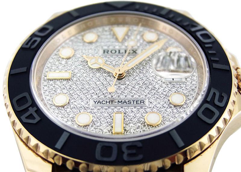 【中古】ロレックス 116655 オイスターパーペチュアル ヨットマスター40 RG ダイヤモンド文字盤 自動巻き ラバー【委託品】
