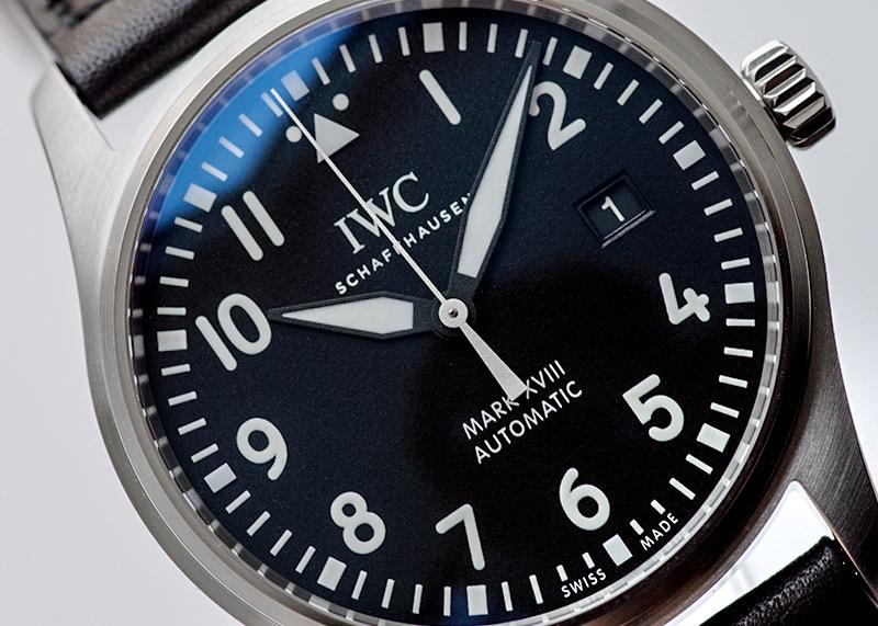 IWC IW327009(IW327001) パイロットウォッチ マークXVIII SS 黒文字盤 自動巻き レザー