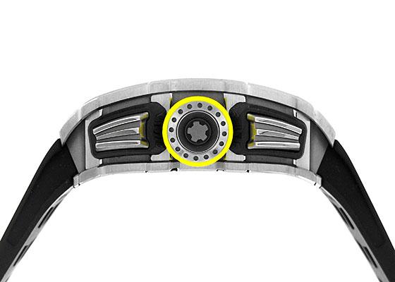 リシャールミル RM11-03 オートマティック フライバック クロノグラフ TI スケルトン文字盤 自動巻き ラバー