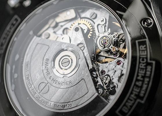 ボーム&メルシェ M0A10066 ケープランド クロノグラフ SS ブルー文字盤 自動巻き ブレスレット