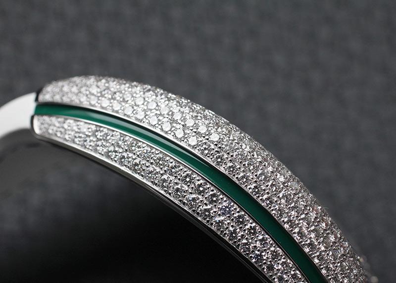 フランクミュラー V45 SC DT D CD OG VR ヴァンガード 全面ダイヤモンド WG ダイヤ文字盤 自動巻き ラバーアリゲーター