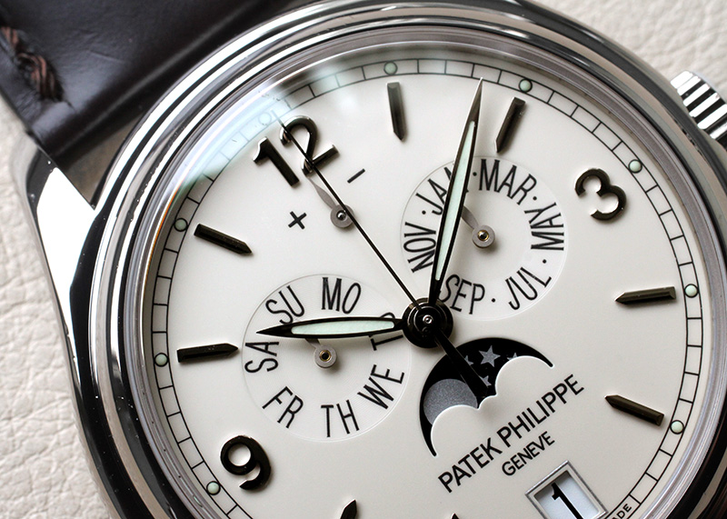 【中古】パテックフィリップ 5146G-001 アニュアルカレンダー WG アイボリー文字盤 自動巻き レザー