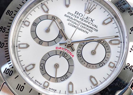 【新品同様】ロレックス 116520 コスモグラフ デイトナ  K番 SS 白文字盤 自動巻き ブレスレット【中古】