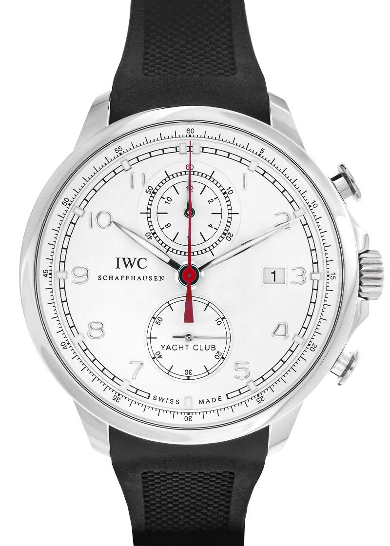 【中古】IWC IW390211 ポルトギーゼ ヨットクラブ SS 白文字盤 自動巻き ラバー