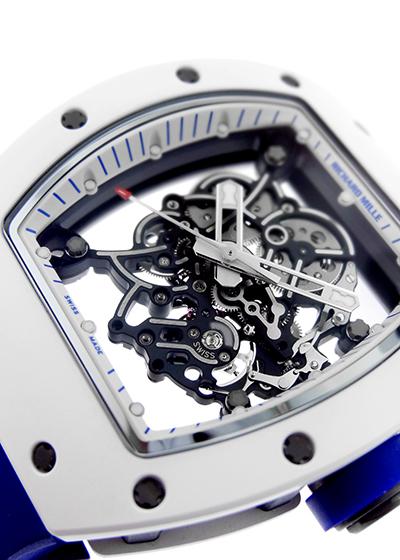 【中古】【40本限定】リシャールミル RM055 ジャパン ブルー ATZ/TI スケルトン文字盤 手巻き ラバー