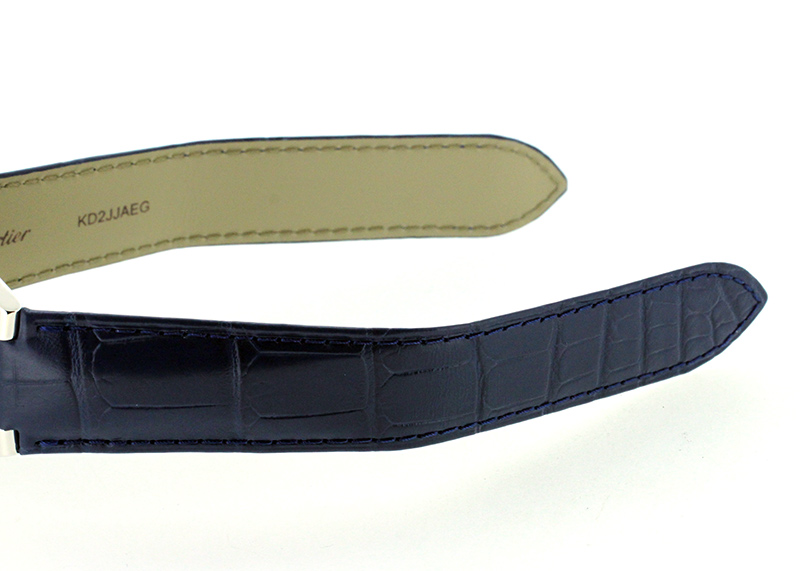 カルティエ WSBB0027 バロンブルー ドゥ カルティエ SS ブルー文字盤 自動巻き レザー