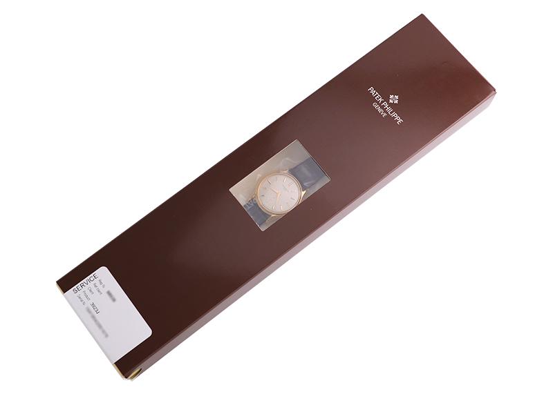 【レストア】パテックフィリップ 3923J カラトラバ YG シルバー文字盤 手巻き レザー【1994年製】