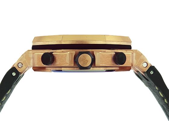 オーデマピゲ 26470OR.OO.A002CR.01 ロイヤルオーク オフショア クロノグラフ PG ゴールド文字盤 自動巻き レザー