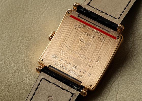 フランクミュラー 6002 MQZ REL RD1R  レディース マスタースクエア レリーフ ベゼルダイヤ PG シルバー文字盤 クォーツ レザー