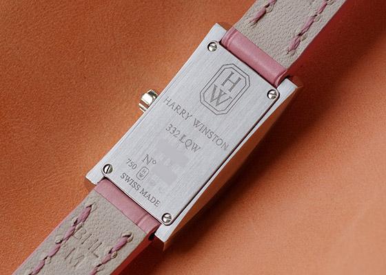 【中古】ハリーウィンストン AVCQHM16WW024 レディース  アヴェニューC ミニ ダイヤモンドベゼル WG シェル/ダイヤ文字盤 クォーツ レザー