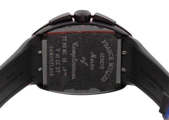 フランクミュラー V45CCDT CAMOU MC NR SB ヴァンガード クロノグラフ カモフラージュ TI ブラウン文字盤 自動巻き ラバー/レザー