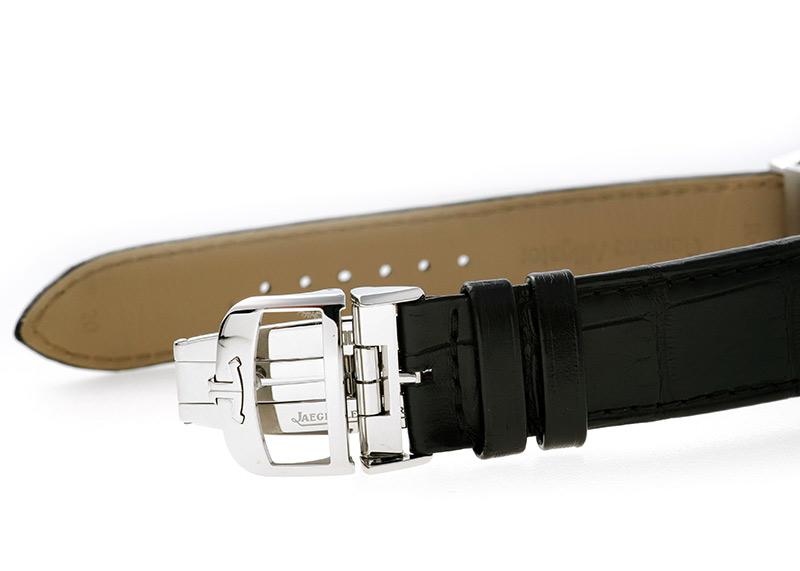 【中古】ジャガールクルト 215.8.S9(Q3838420) レベルソ クラシック ラージ デュオ SS シルバー文字盤 自動巻き レザー