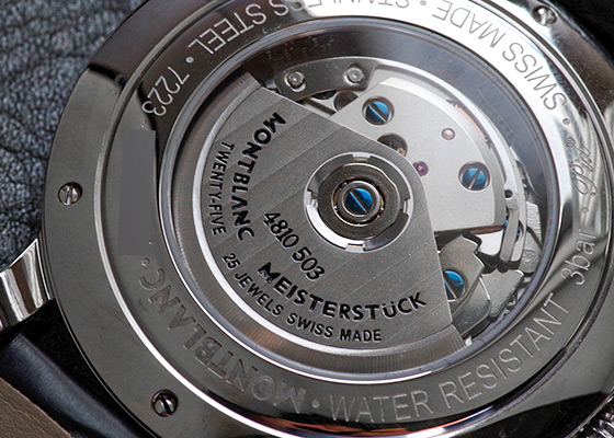 【未使用品】モンブラン MB107113 スター クロノグラフ UTC SS シルバー文字盤 自動巻き レザー