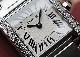 カルティエ W4TA0008 レディース タンクフランセーズ SM ダイヤモンドベゼル SS シルバー文字盤 クォーツ ブレスレット