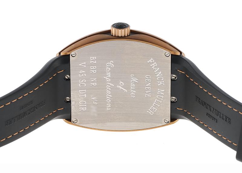 フランクミュラー V45SCDT CIR BZ BR NR ヴァンガード デイト ブロンズ グレー文字盤 自動巻き クロコダイル/ラバー