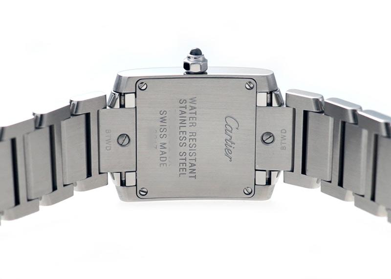 【中古】カルティエ WE110006 タンクフランセーズ SM SS シルバー/11Pダイヤ文字盤 クォーツ ブレスレット