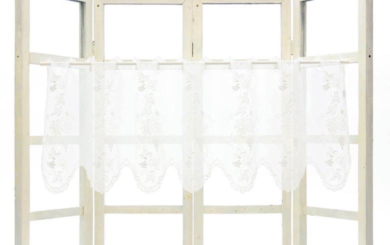 uva+crista ぶどう柄刺繍 カフェカーテン 約135×45cm
