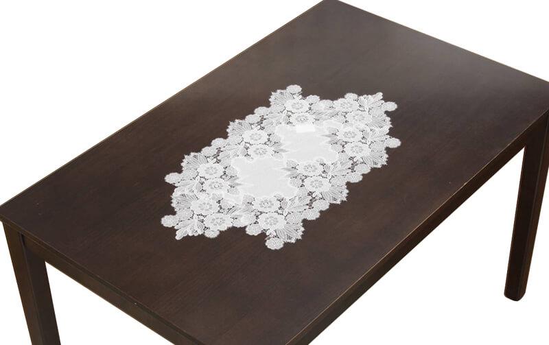 floreale ギュピールレース テーブルセンター 約38×70cm