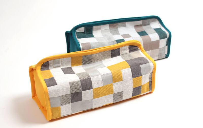 Pix シェニール織 ティッシュボックスカバー 約26×12×6cm