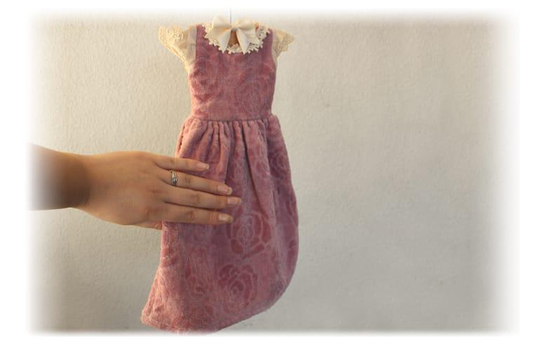 バラのジャカード ドレスタオル 約36×30cm